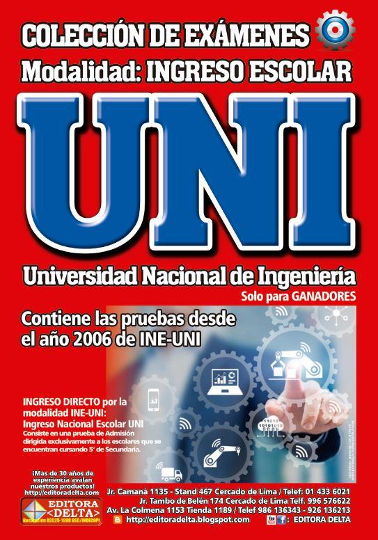 Colección exámenes de Ingreso Escolar UNI