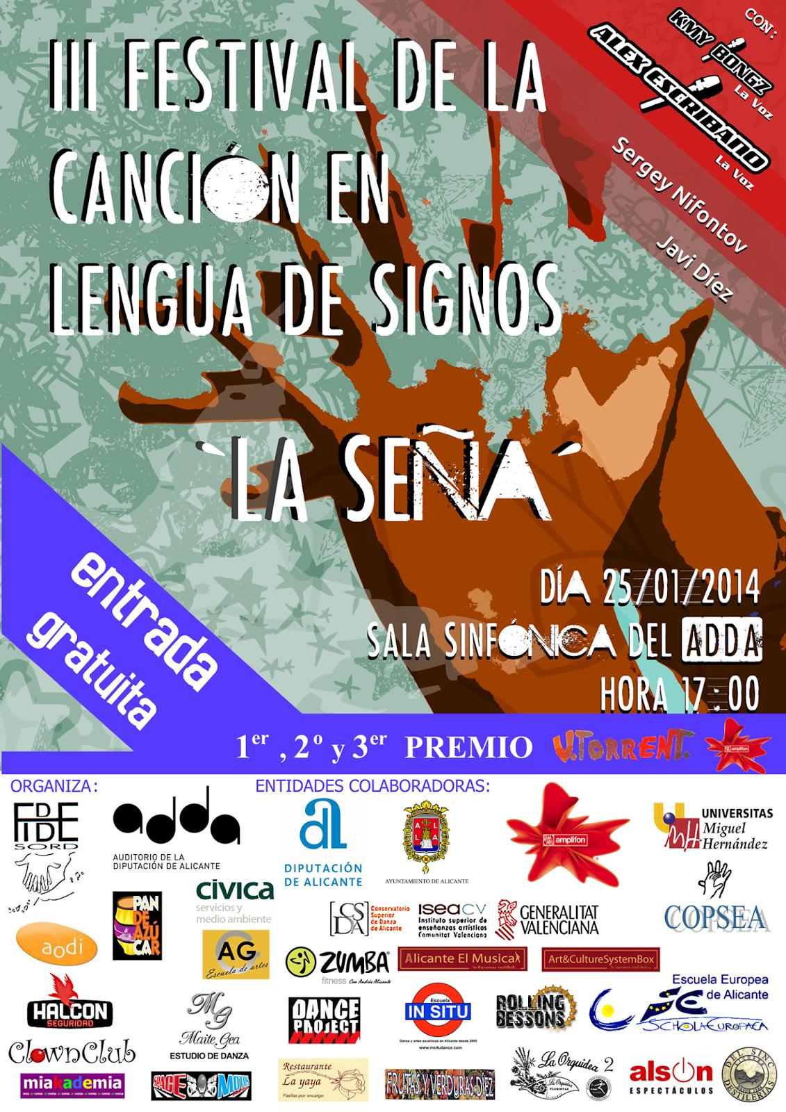 III FESTIVAL DE LA CANCIÓN EN LENGUA DE SIGNOS - Alicante 25/01/14 Cartel_Lengua_Signos_Por_Capas_PNG_Final_Enero