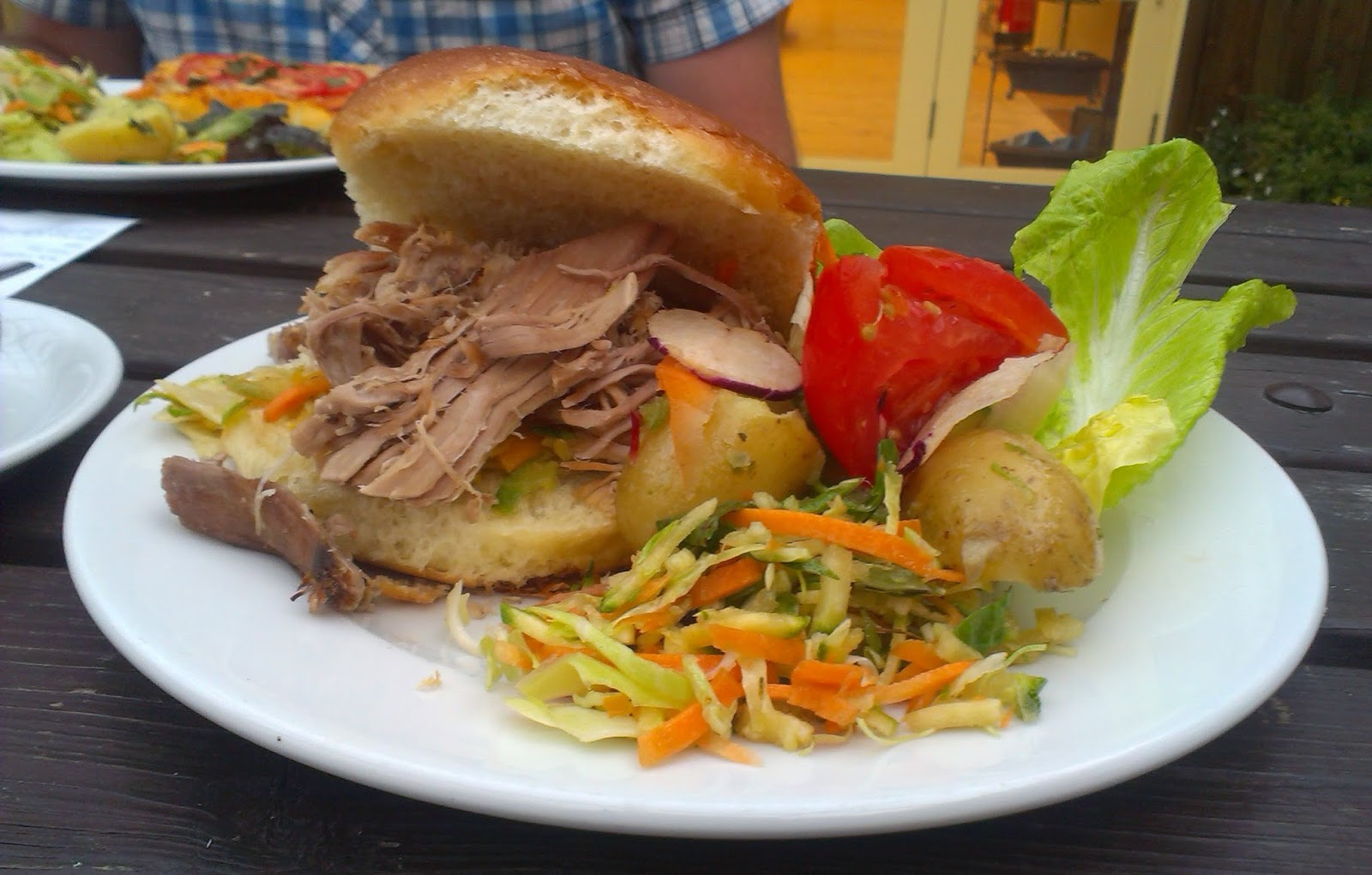 The Lost Gardens of Heligan, Cornwall - pulled pork roll