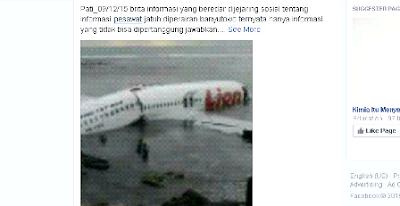 foto-foto berita pesawat jatuh di banyutowo dukuhseti pati hoax