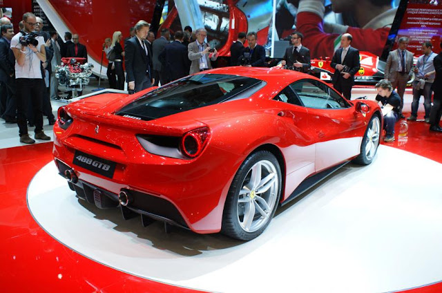 New Ferrari 488 GTB 2015 best performace and price back side view