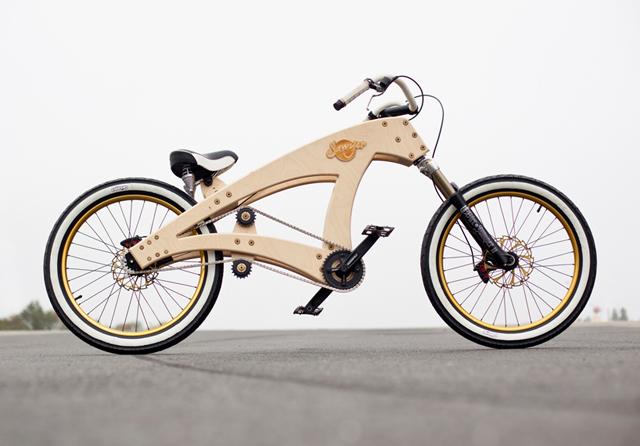 Bicicleta de madeira vem em kit de montagem