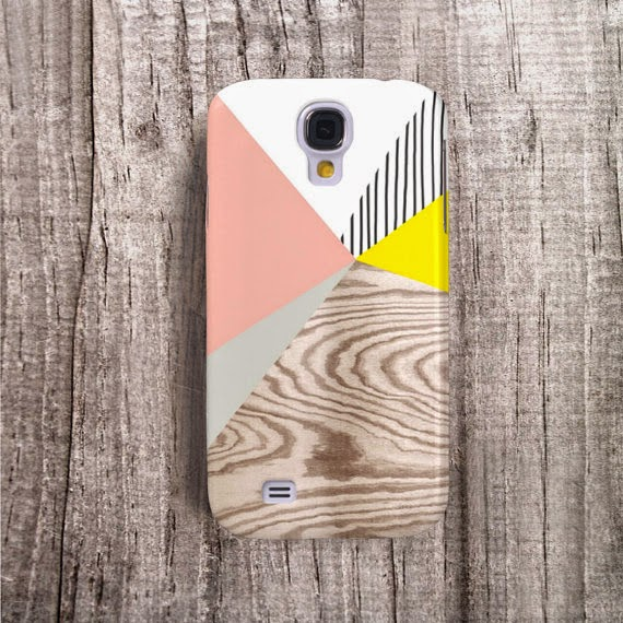 colorblock and woodgrain phone cade from Casesbycsera
