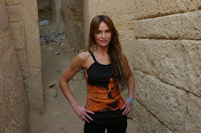 Jolene Blalock, of Star Trek Enterprise, in Cairo
