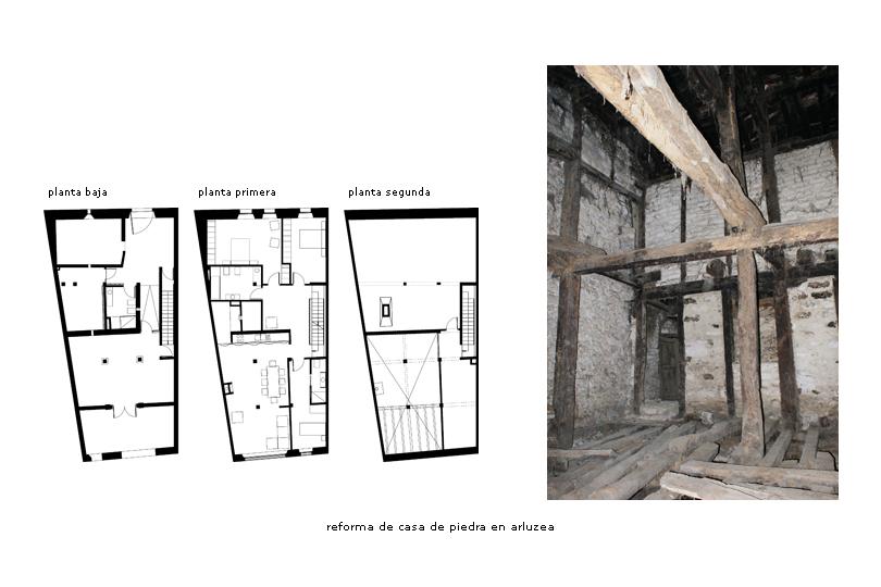 Reforma de casa de piedra en arlucea en proceso ekainj - Reforma en casa ...
