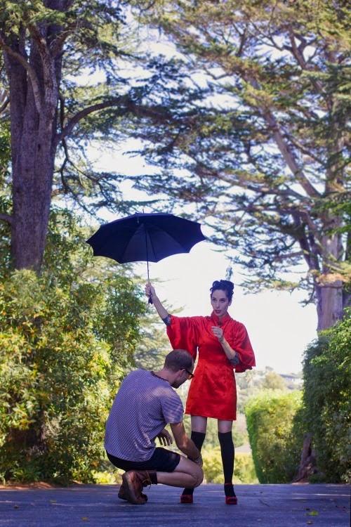 red kimono dress - outtake - catherine masi