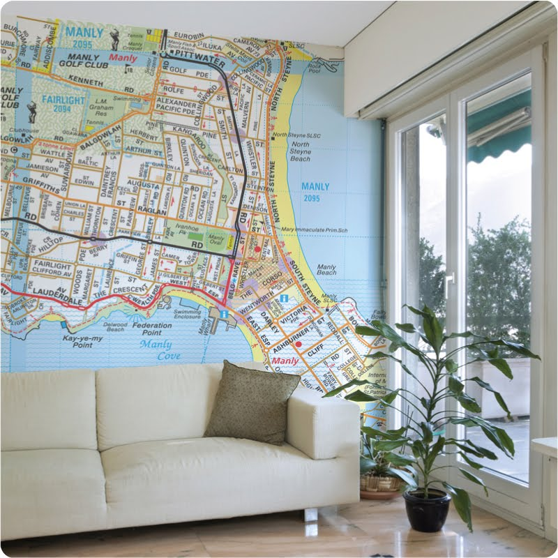 Vintage Map Wall Stickers for a Travel Nursery