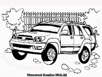 Mewarnai Gambar Mobil Toyota Fortuner Terbaru