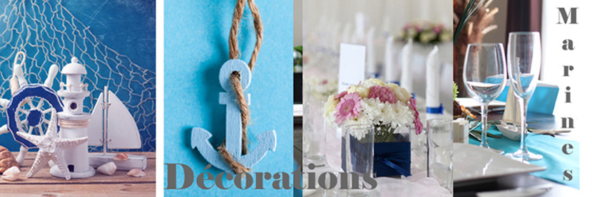 D corations marines d corations de mariage th me mer for Theme marin decoration