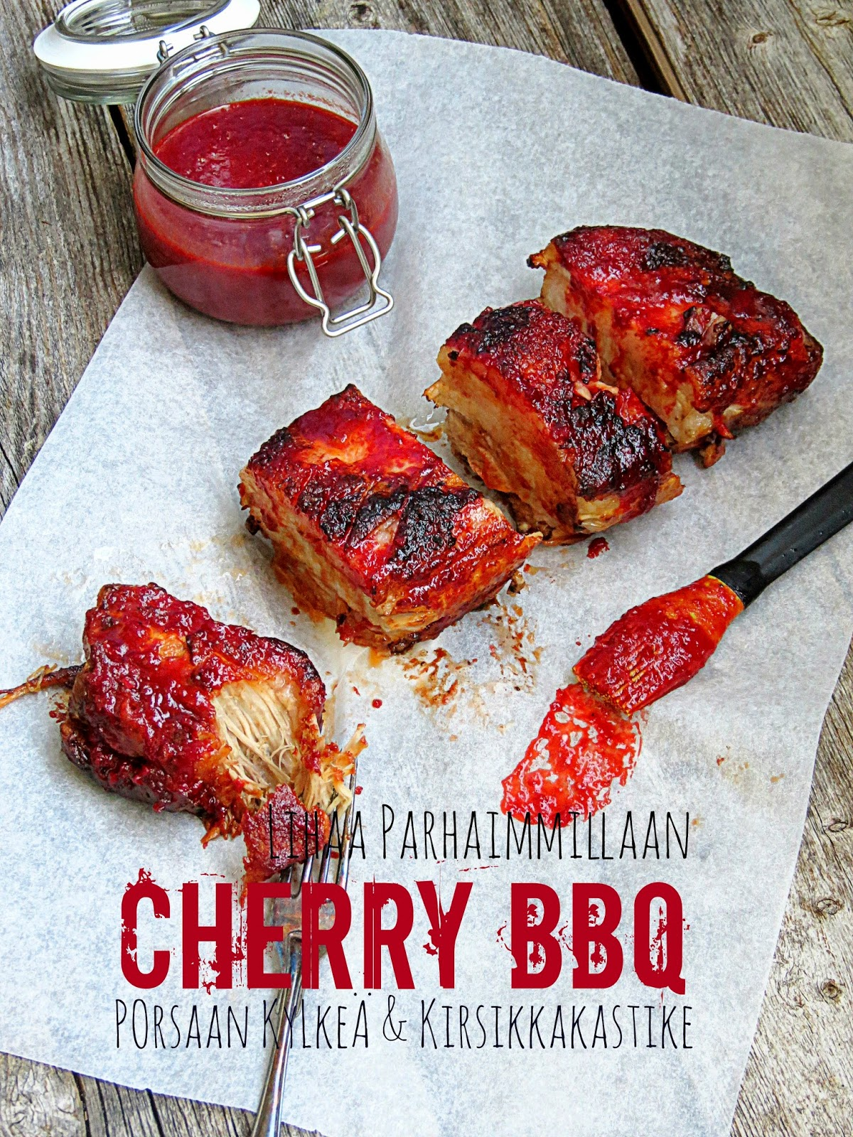 Lihaa parhaimmillaan: Cherry BbQ possua