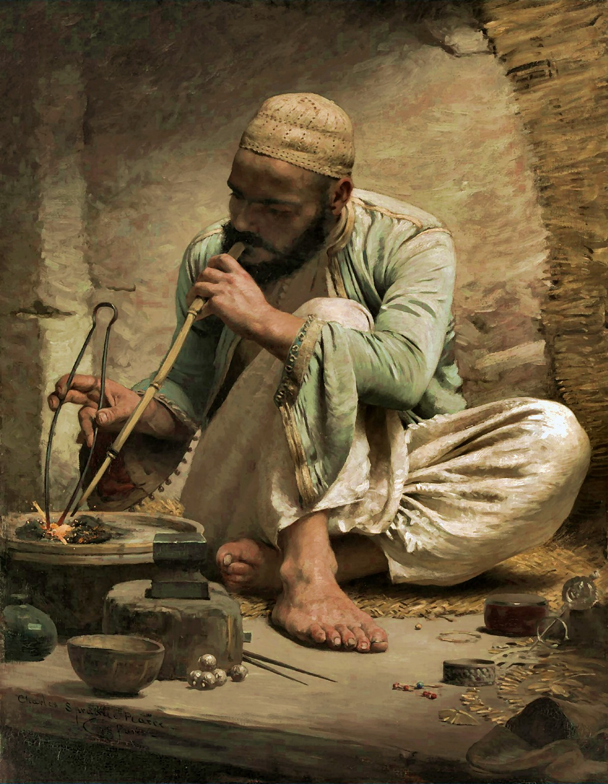 Charles  Sprague  Pearce  the  arab  jeweller