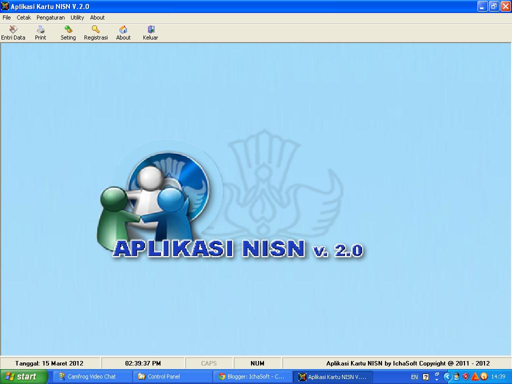 Berikut ini adalah screen short dari aplikasi Kartu NISN