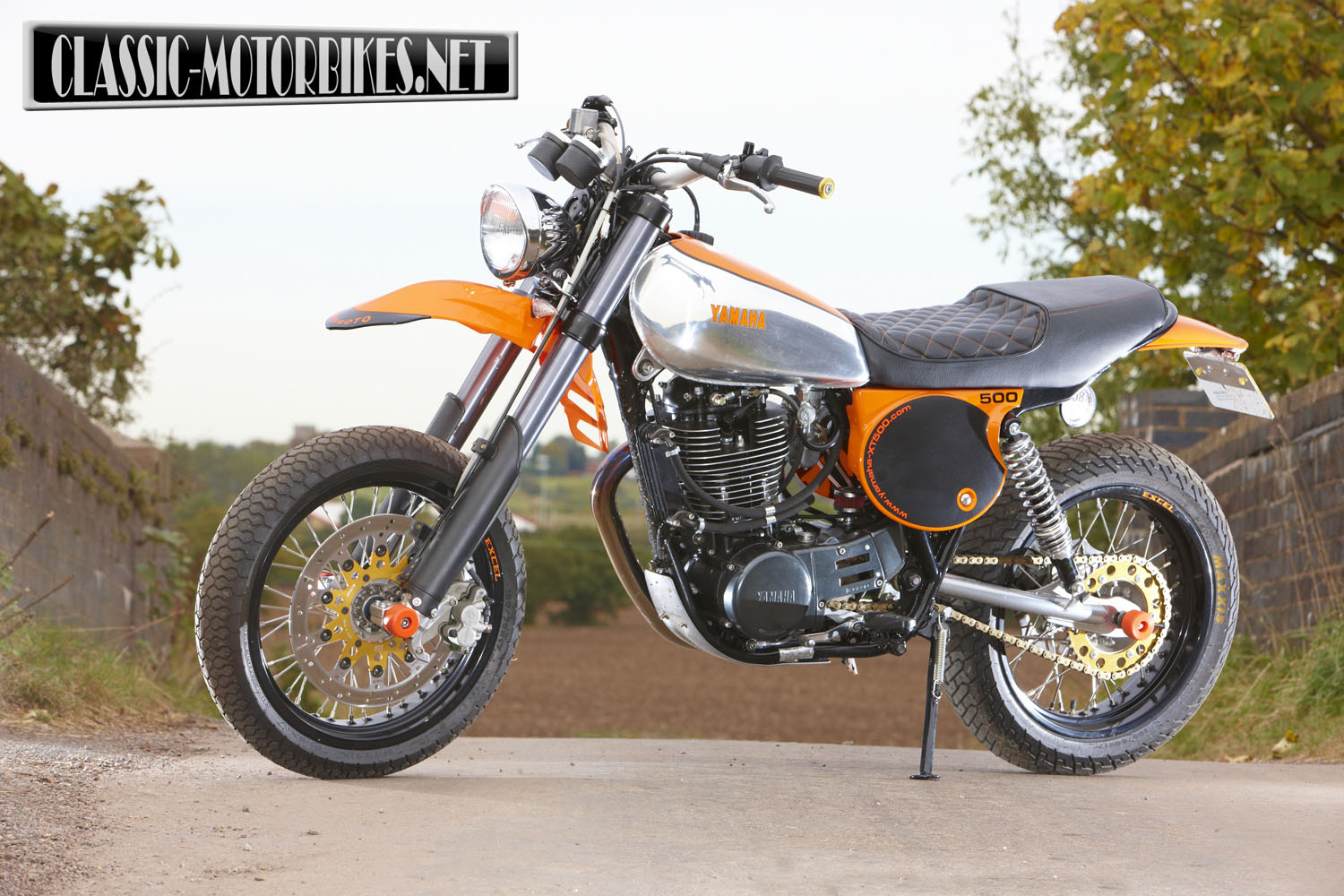 racing caf yamaha xt 500 supermoto by dave newitt. Black Bedroom Furniture Sets. Home Design Ideas