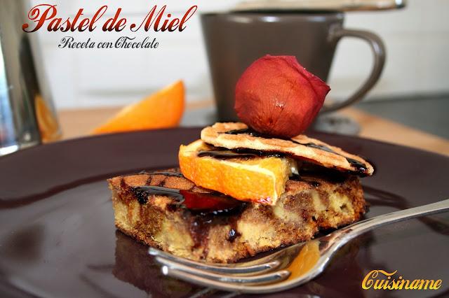 dulces y postres, pastel, pastel de chocolate, recetas dulces, miel, naranjas, recetas de cocina, recetas fáciles, recetas originales, yummy recipes, gastronomía, blog cocina