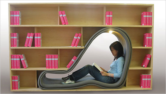 Book Shelf Reading Nook