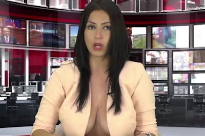 Newsreader gets anchor role job after leaving her blouse undone a 21 year old student enki bracaj was hoping for a reporting job on an albanian tv station and it seems her weird interview approach worked because she ccuart Image collections