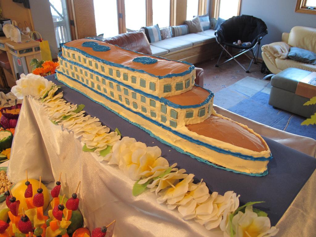 BBens Blog My Biggest Cake Yet Cruise Ship Cake - Cruise ship cake