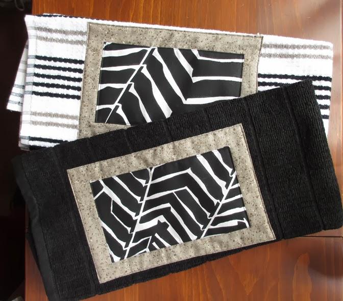 "Art: Kitchen Towel Applique Project using my 9""X12"" stencil """