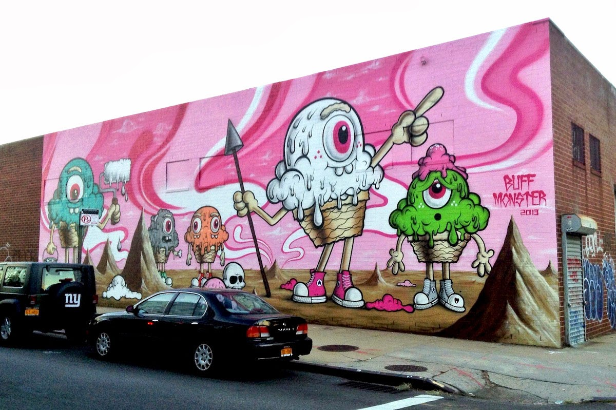 Buff Monster New Mural In Williamsburg New York City