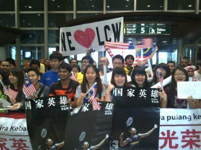 1,000 Menanti Kepulangan Dato' Lee Chong Wei Di KLIA