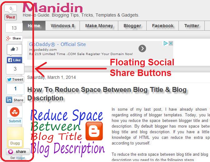 social media share buttons blogger
