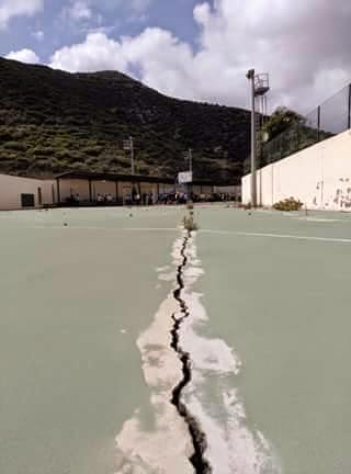 Riesgo de hundimiento cancha colegio Juan Negrín, Las Palmas de Gran Canaria