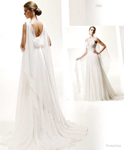 pictures of grecian wedding dresses