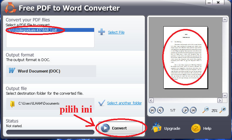 convert gratis pdf ke word