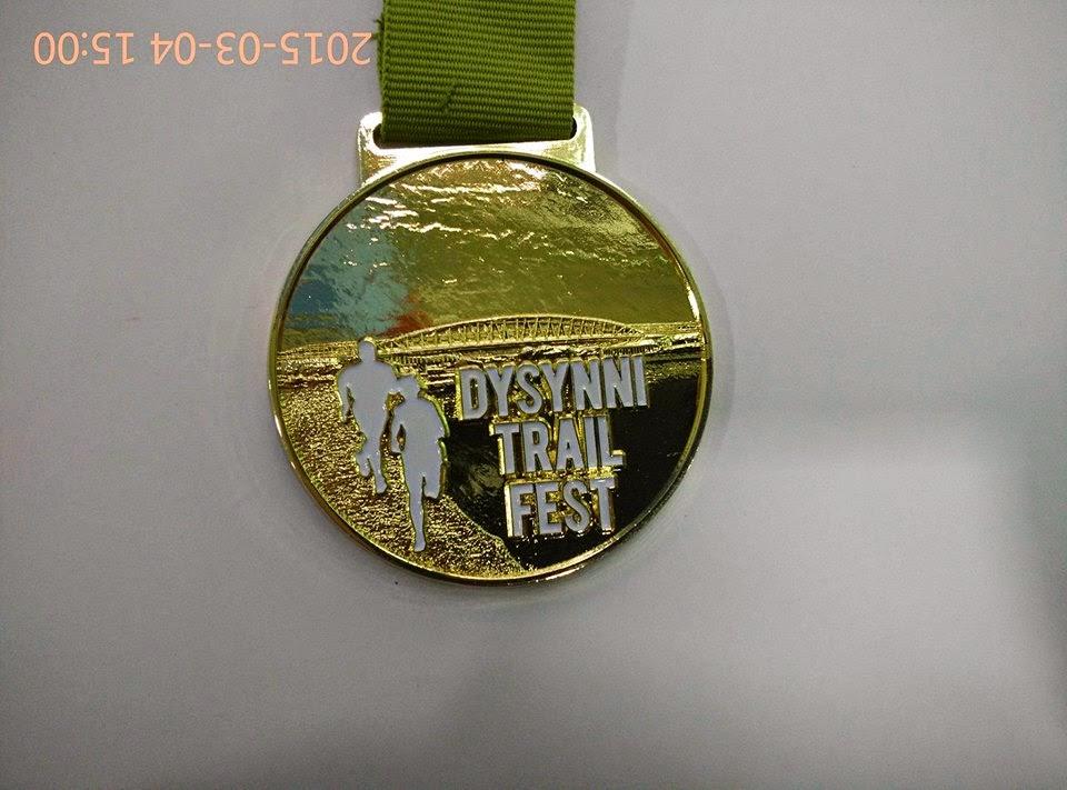 2015 Dysynni Trail Fest Challange medal