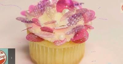 Lentejuelas Gelatina Cupcakes