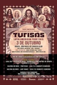 Turisas Brazil tour 2015
