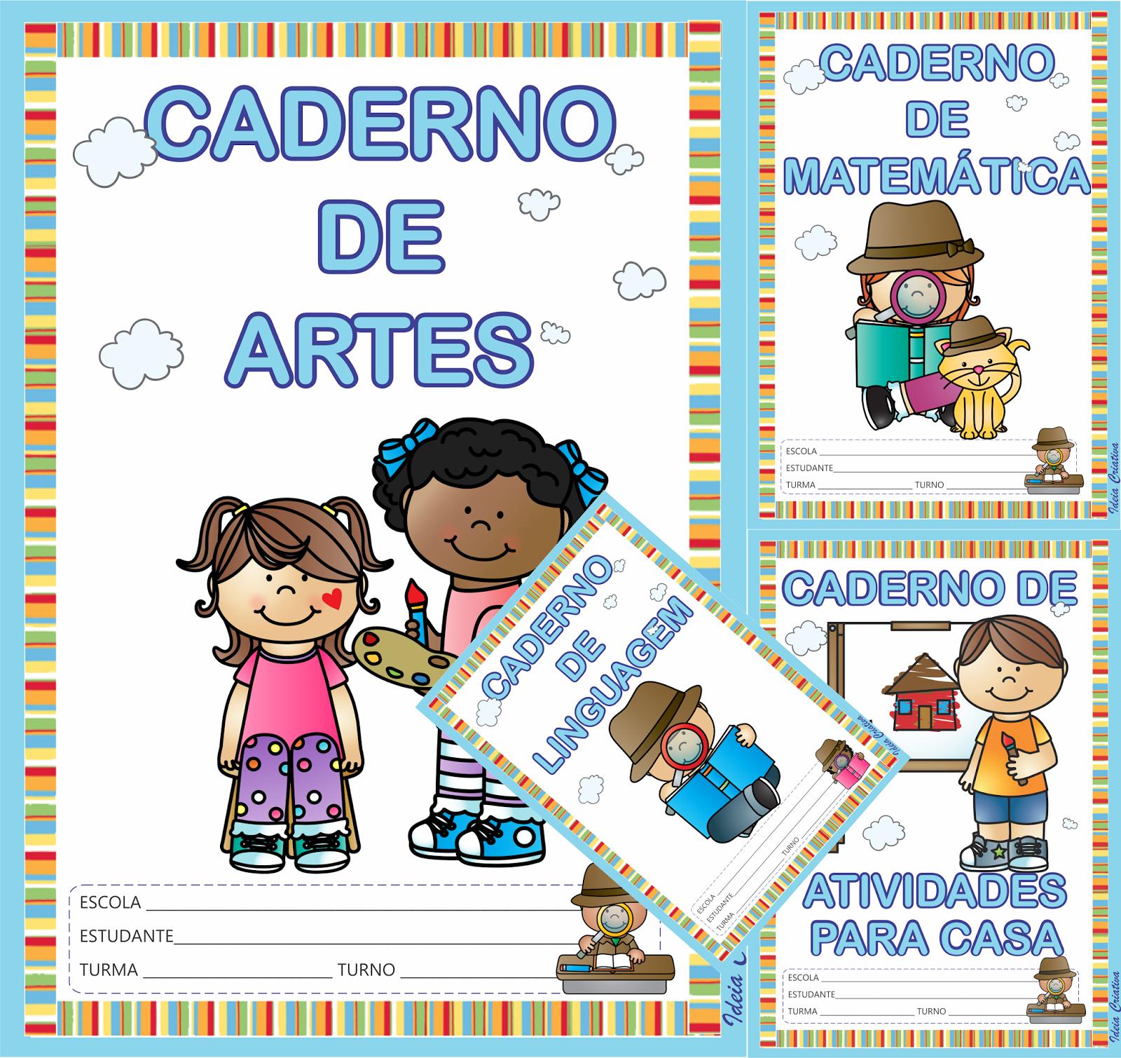Capas para Caderno de Atividades Céu Azul