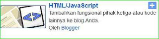 tambah gadget dengan kode html javascript