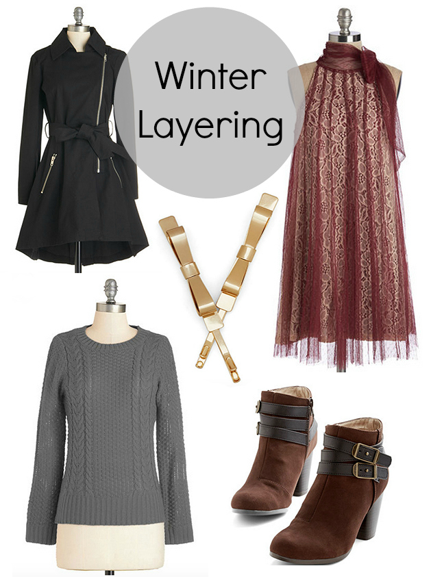 Polyvore wishlist collage for winter layering