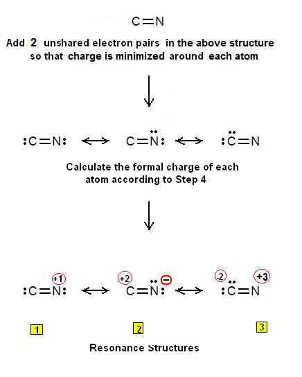 Simple Procedure for writing the Lewis Structures of CN+ ... | 436 x 544 png 18kB