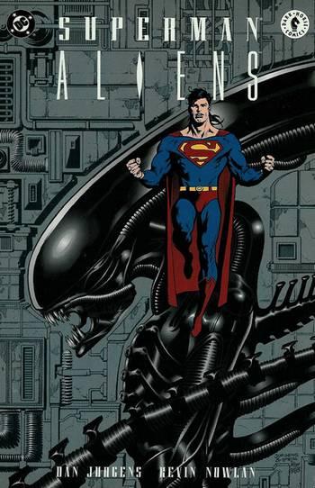 Comics de películas o series de dibujos Supermanvsaliens+%282%29