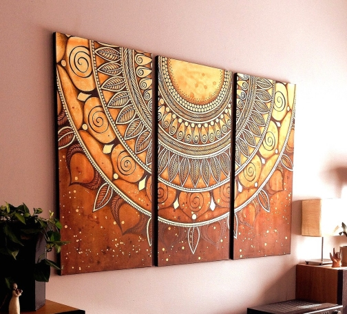 Dishfunctional designs magical mandalas mandalas in diy art home decor and more - Wall paintings for home decoration ...