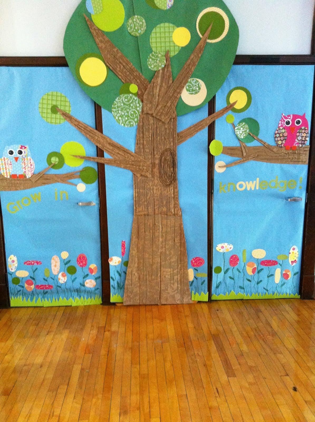 Classroom Decoration Ideas Tree : Setting the mood mod owl door decor