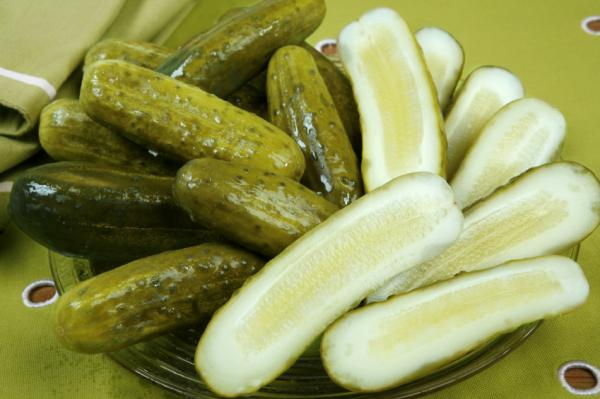 really like pickles especially garlic pickles you know the ...