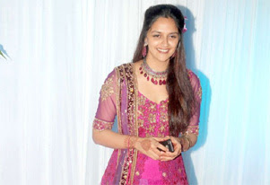 ahana deol at engagement