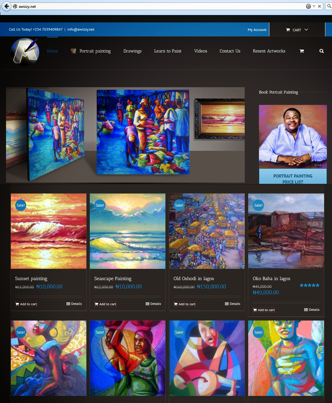 Awizzy art website in nigeria for The best artist websites