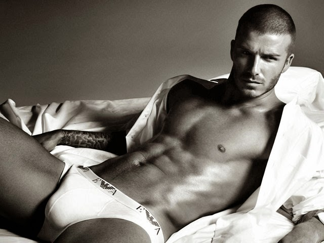 Sexy David Beckham With Short Hair