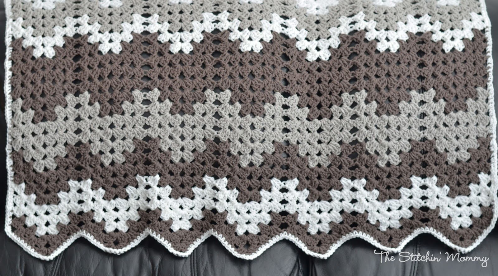 Crochet Stitches Granny Ripple : Granny Ripple Blanket from The Stitchin Mommy