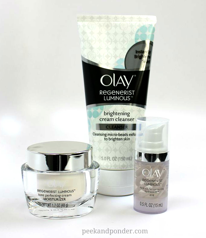 Olay Regenerist Luminous skin care products