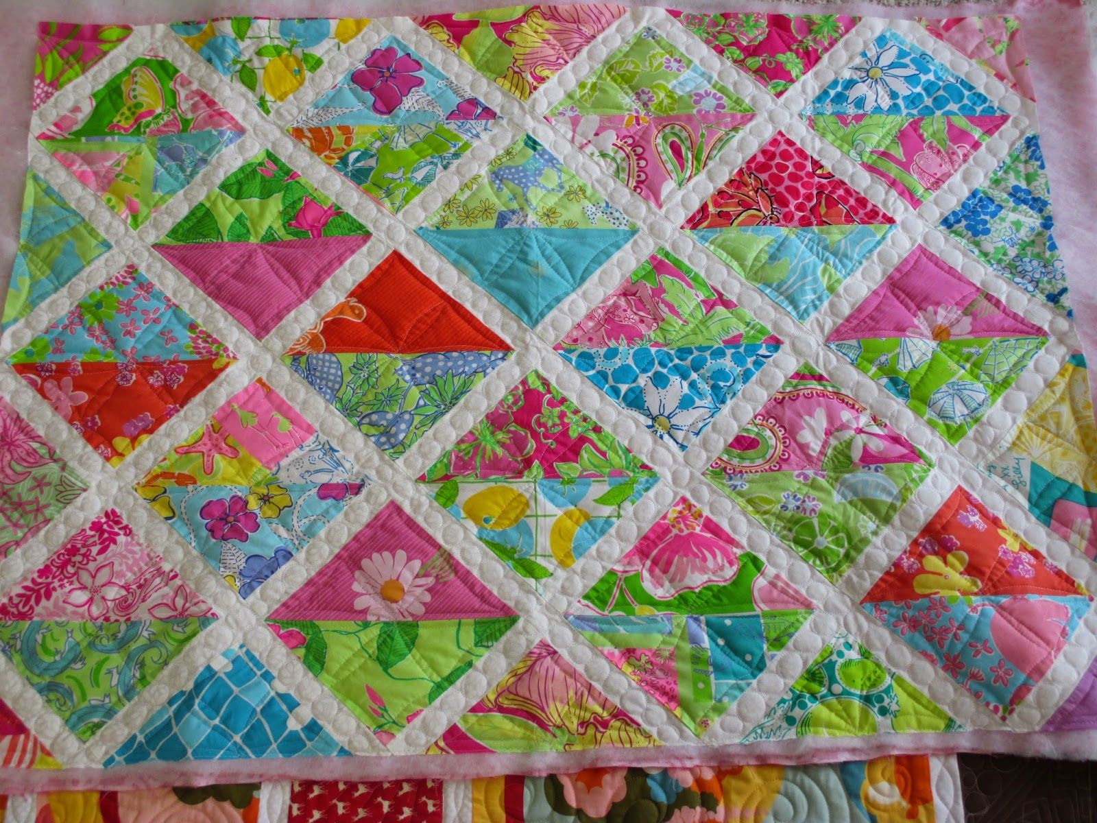 Down To Sew: Lilly Pulitzer baby quilt and 2 more baby quilts : lilly pulitzer quilts - Adamdwight.com