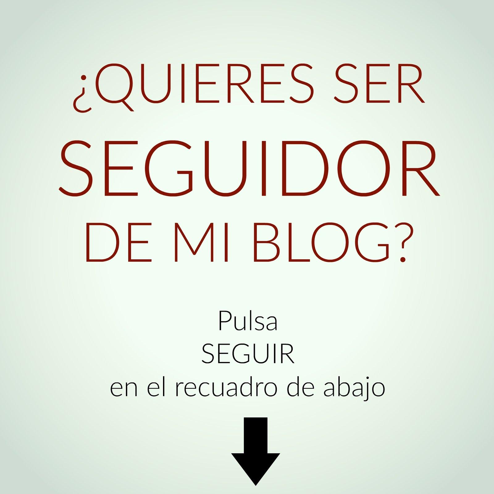 ¿Quieres seguir mi blog?