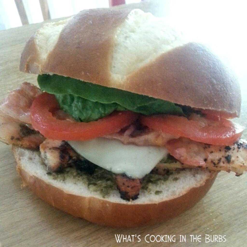 pesto chicken club sandwiches