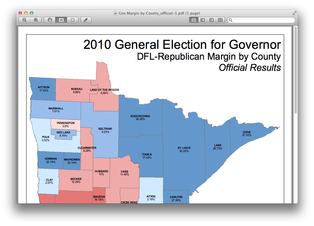 2010 mn governor map http www sos state mn us index aspx page 1634 select governor margin by county