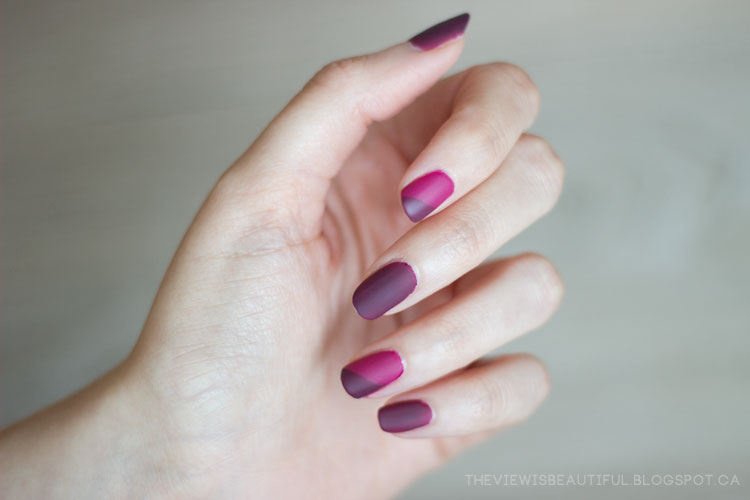 Plum Suede Simple Fall Nail Art The View Is Beautiful