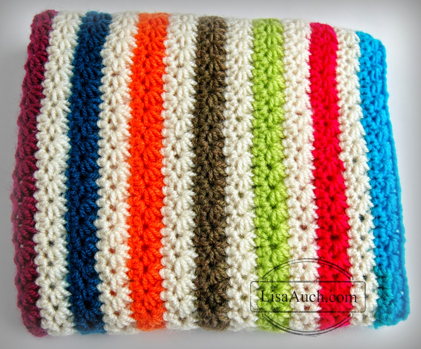 How to crochet the star stitch and crochet a warm cosy blanket how to crochet the star daisy stitch free crochet patterns learn how to croche bankloansurffo Images